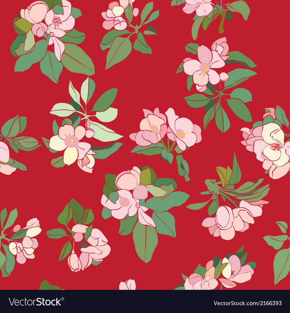 Apple flowers deco pattern vector | Price: 1 Credit (USD $1)