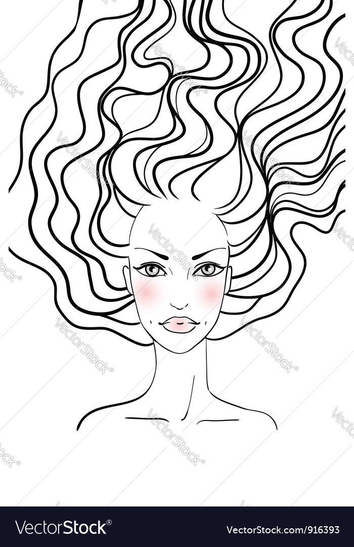 Beauty girl face vector | Price: 1 Credit (USD $1)