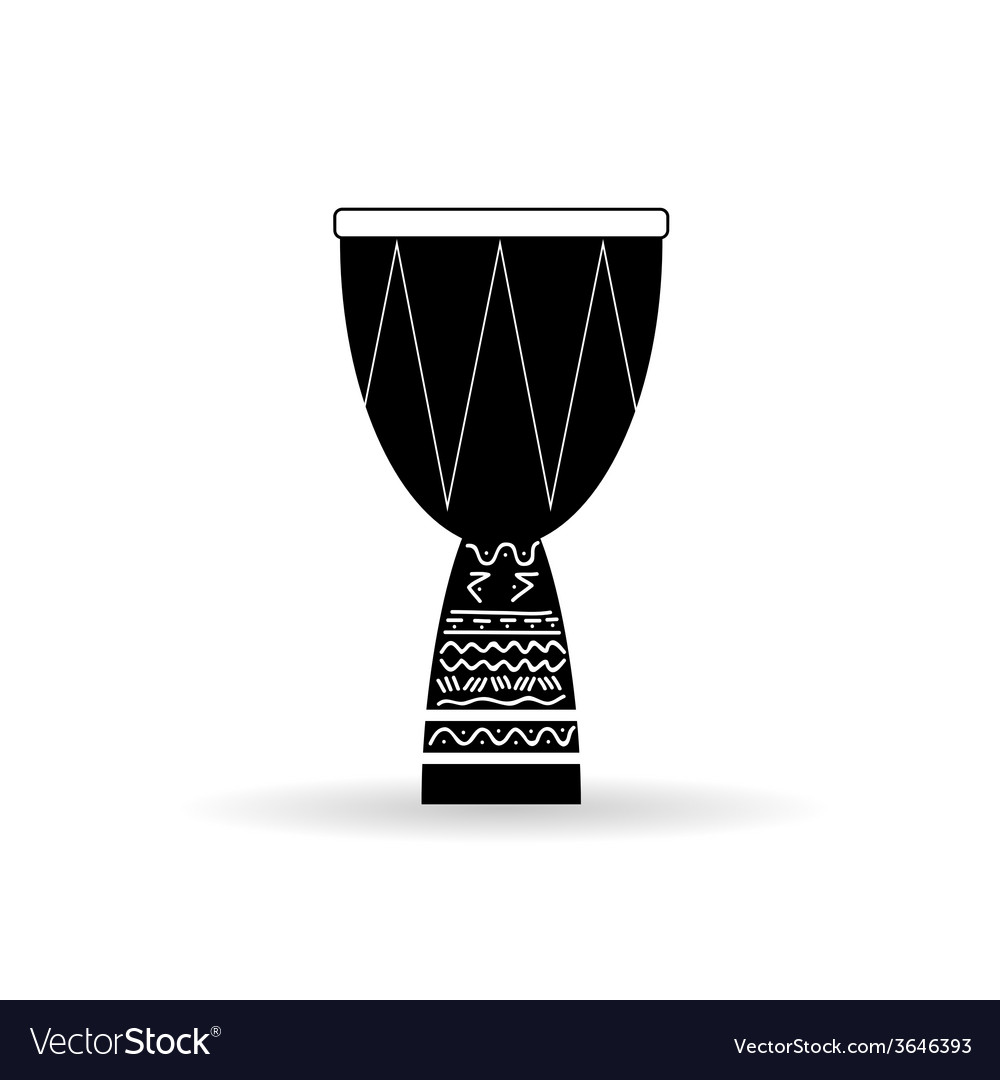 Bongo black and white vector | Price: 1 Credit (USD $1)