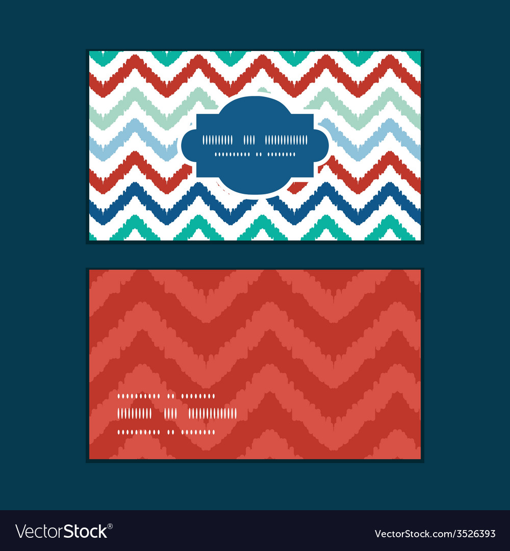 Colorful ikat chevron horizontal frame pattern vector | Price: 1 Credit (USD $1)