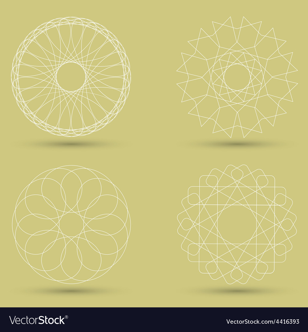 Modern white geometric shape guilloche vector | Price: 1 Credit (USD $1)