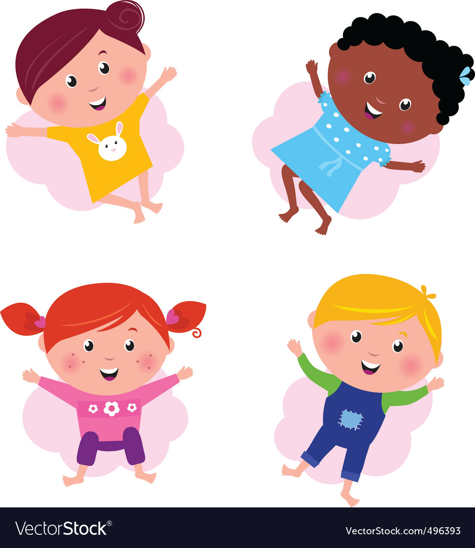 Multi cultural kids vector | Price: 1 Credit (USD $1)