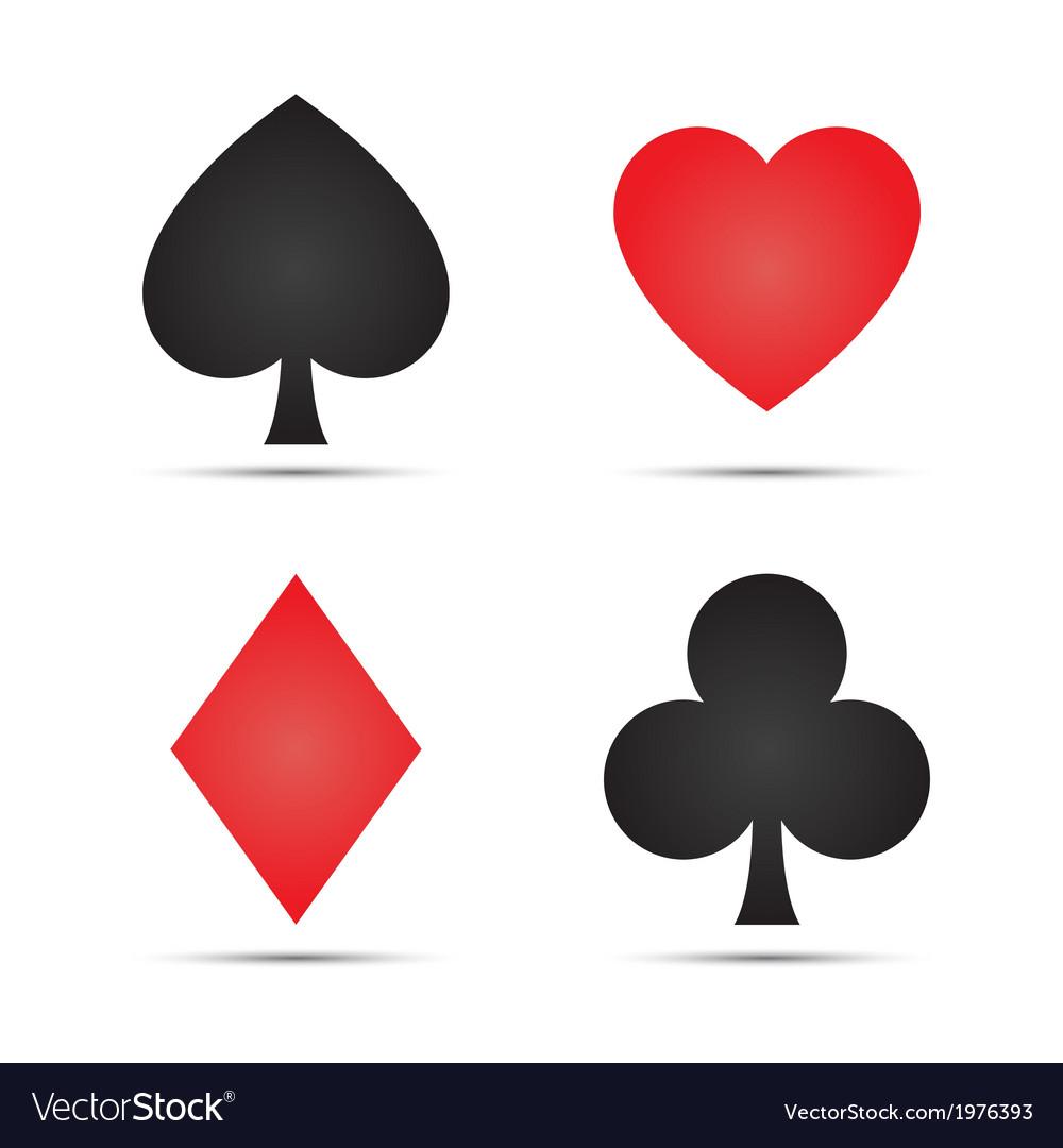 Playing card symbols vector | Price: 1 Credit (USD $1)