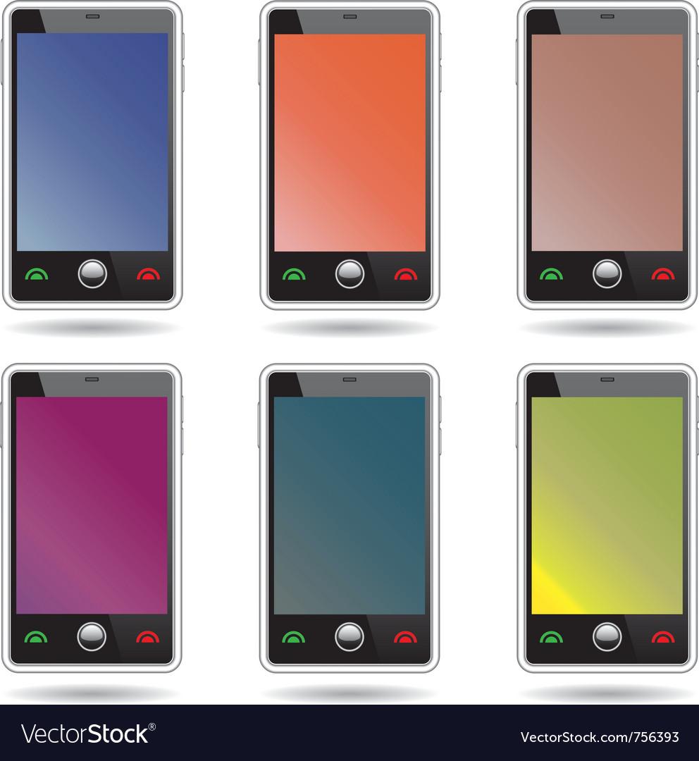 Touchscreen smartphones vector | Price: 1 Credit (USD $1)