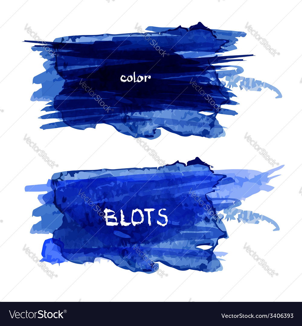 Watercolor blots vector | Price: 1 Credit (USD $1)
