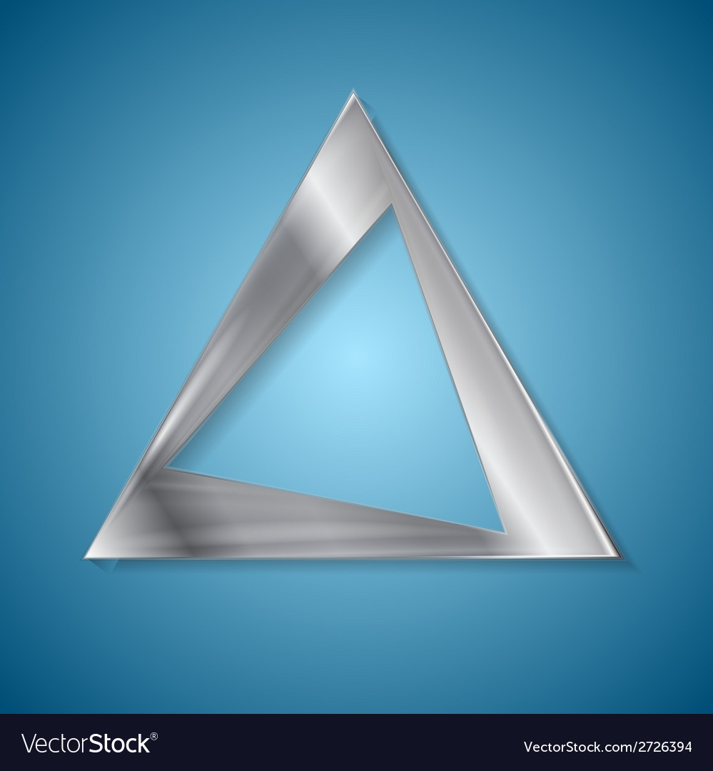 Abstract silver triangle logo design vector | Price: 1 Credit (USD $1)
