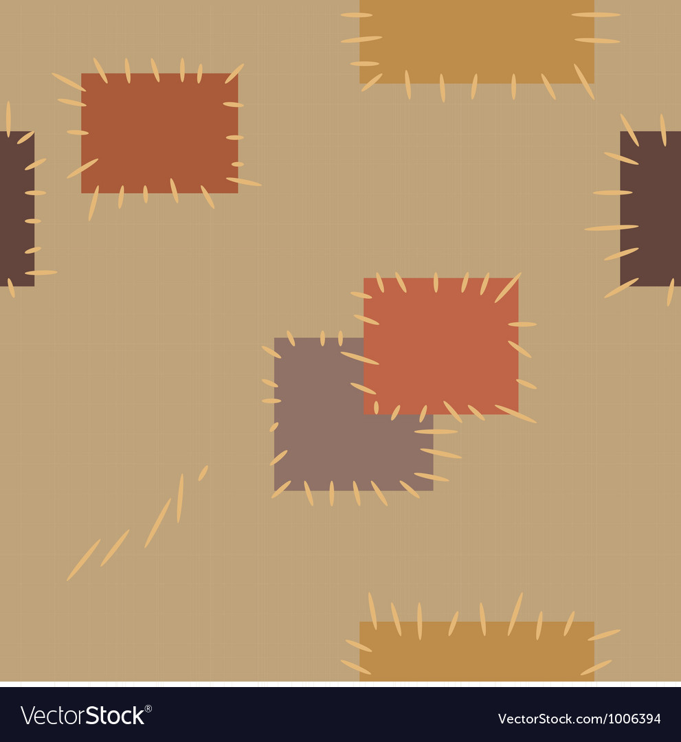 Seamless pattern with patches vector | Price: 1 Credit (USD $1)