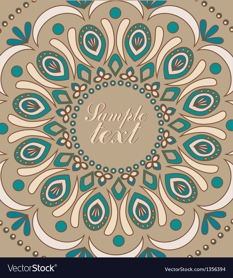 Vintage background with oriental ornaments vector | Price: 1 Credit (USD $1)