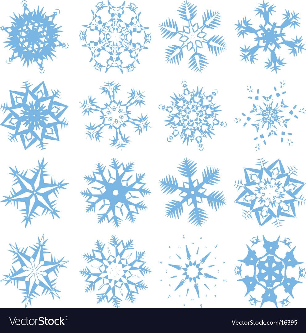 Blue snowflakes vector | Price: 1 Credit (USD $1)