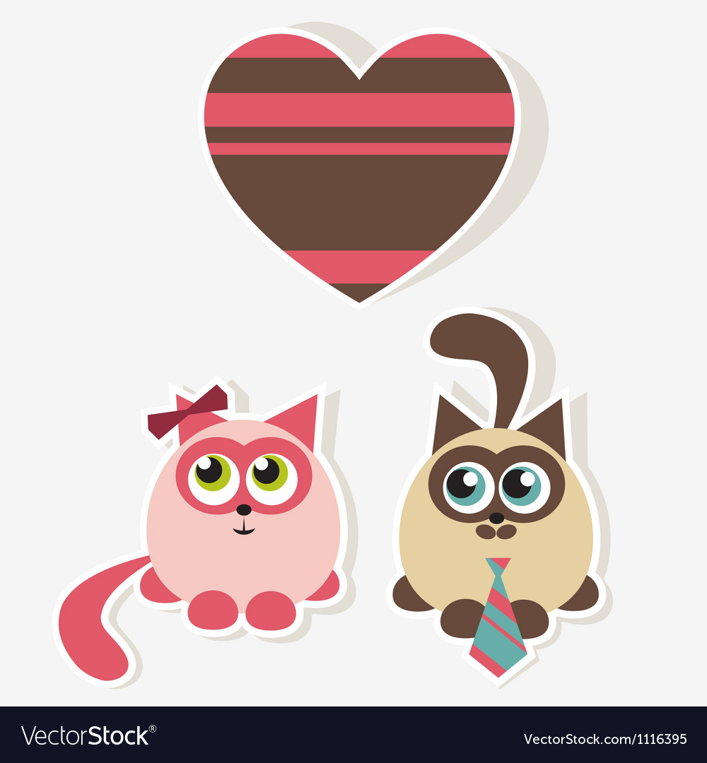 Cats in love vector | Price: 1 Credit (USD $1)