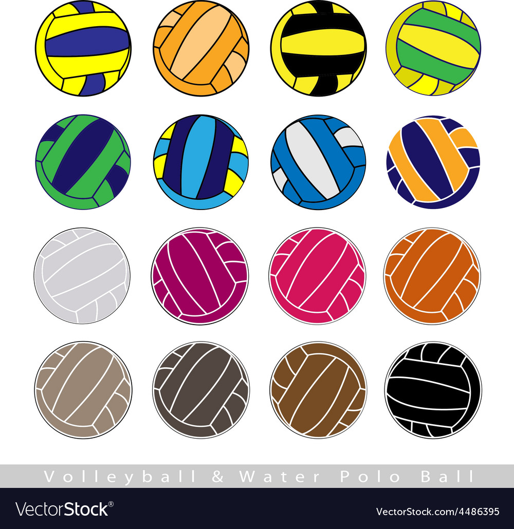 Collection of volleyball balls on white background vector | Price: 1 Credit (USD $1)