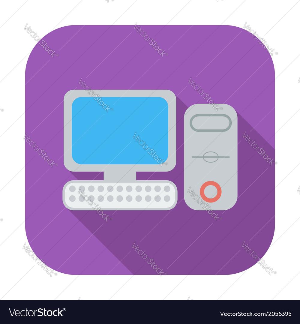 Computer flat icon 2 vector | Price: 1 Credit (USD $1)