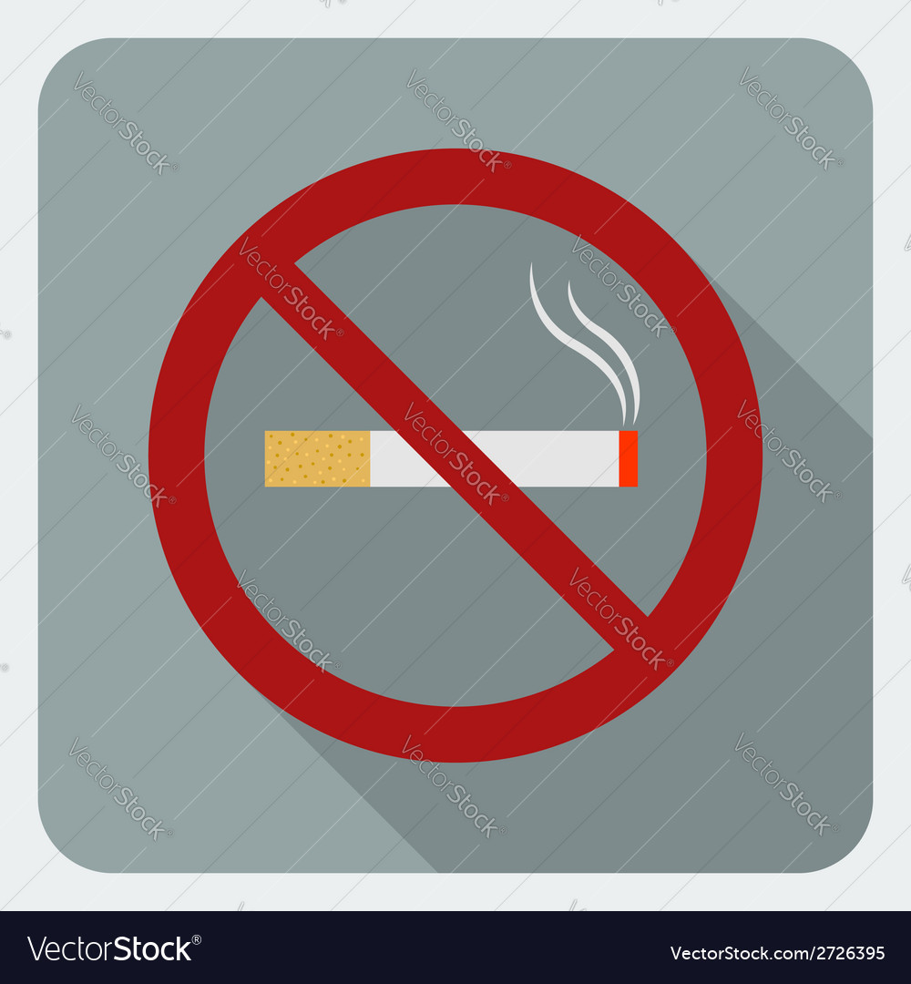 Flat icon no smoking stop smoking symbol vector | Price: 1 Credit (USD $1)