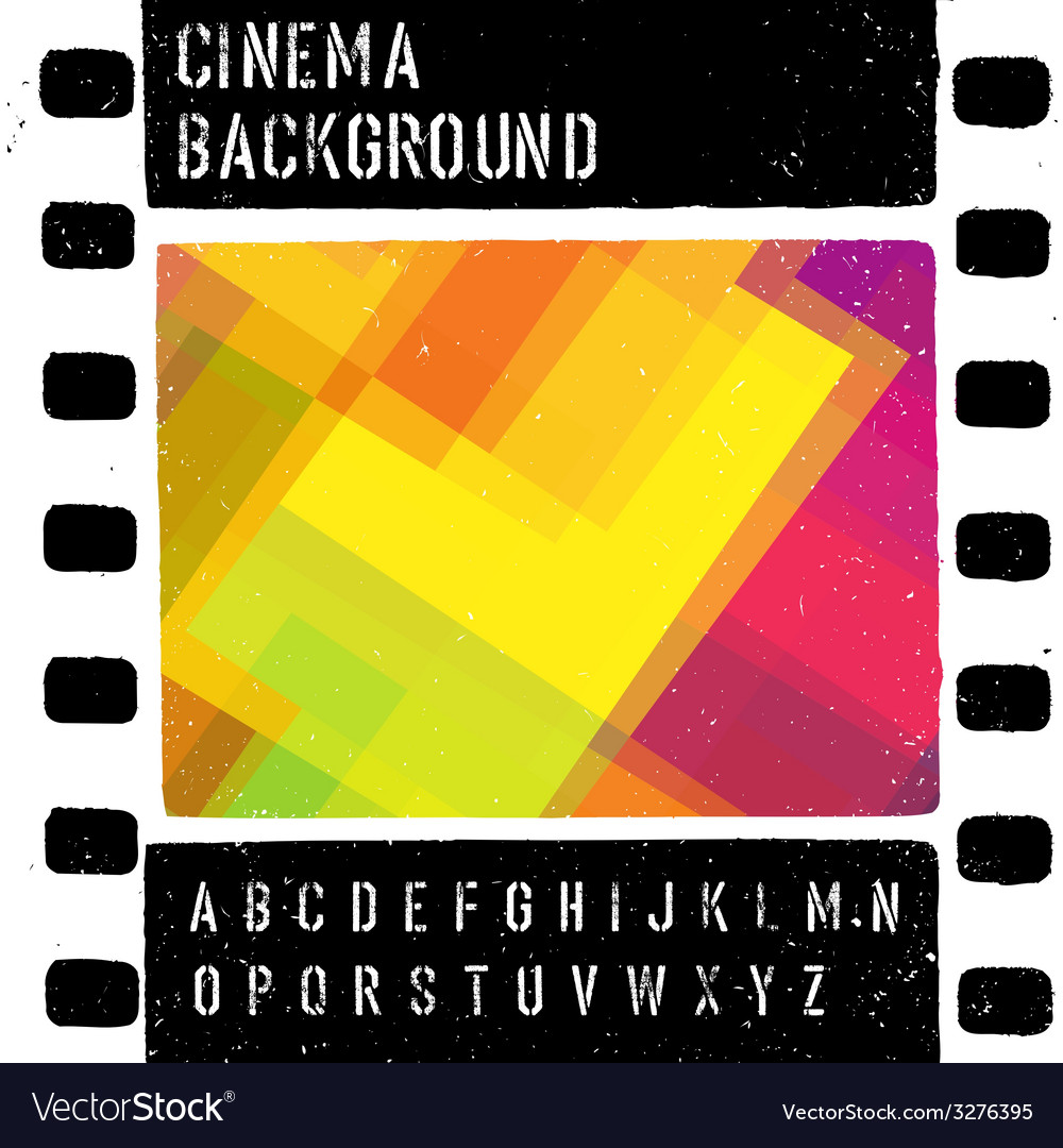 Grunge colorful cinema background vector | Price: 1 Credit (USD $1)
