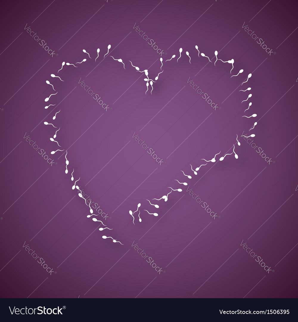 Large number of sperms with heart vector | Price: 1 Credit (USD $1)