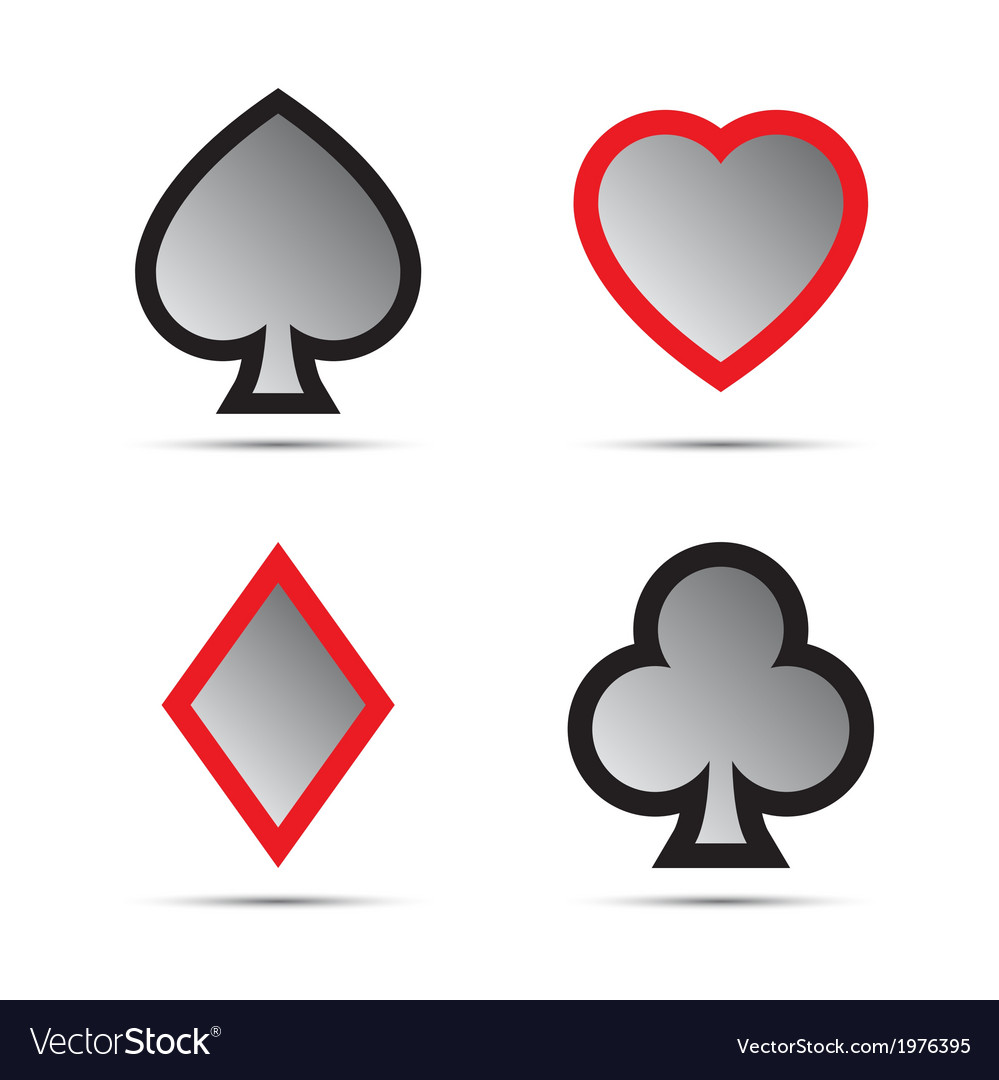Playing card symbols vector | Price: 1 Credit (USD $1)
