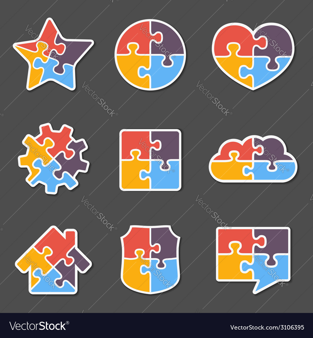Puzzle objects vector | Price: 1 Credit (USD $1)
