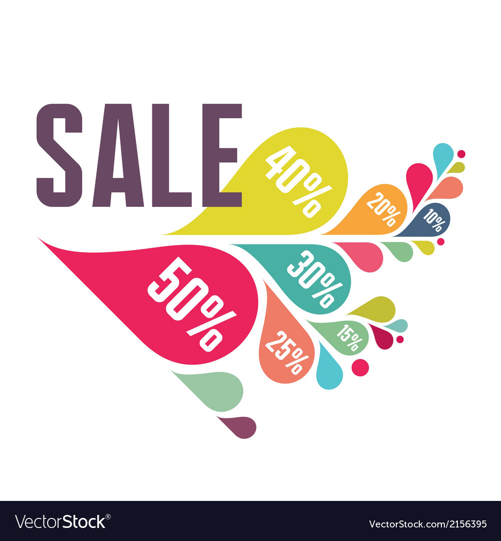 Sale banner - colorful petals vector | Price: 1 Credit (USD $1)