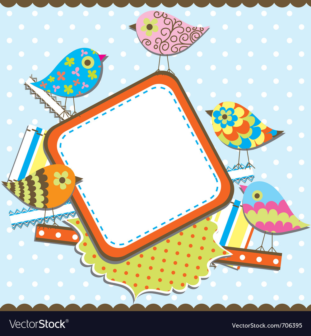 Template birthday greeting card vector | Price: 1 Credit (USD $1)