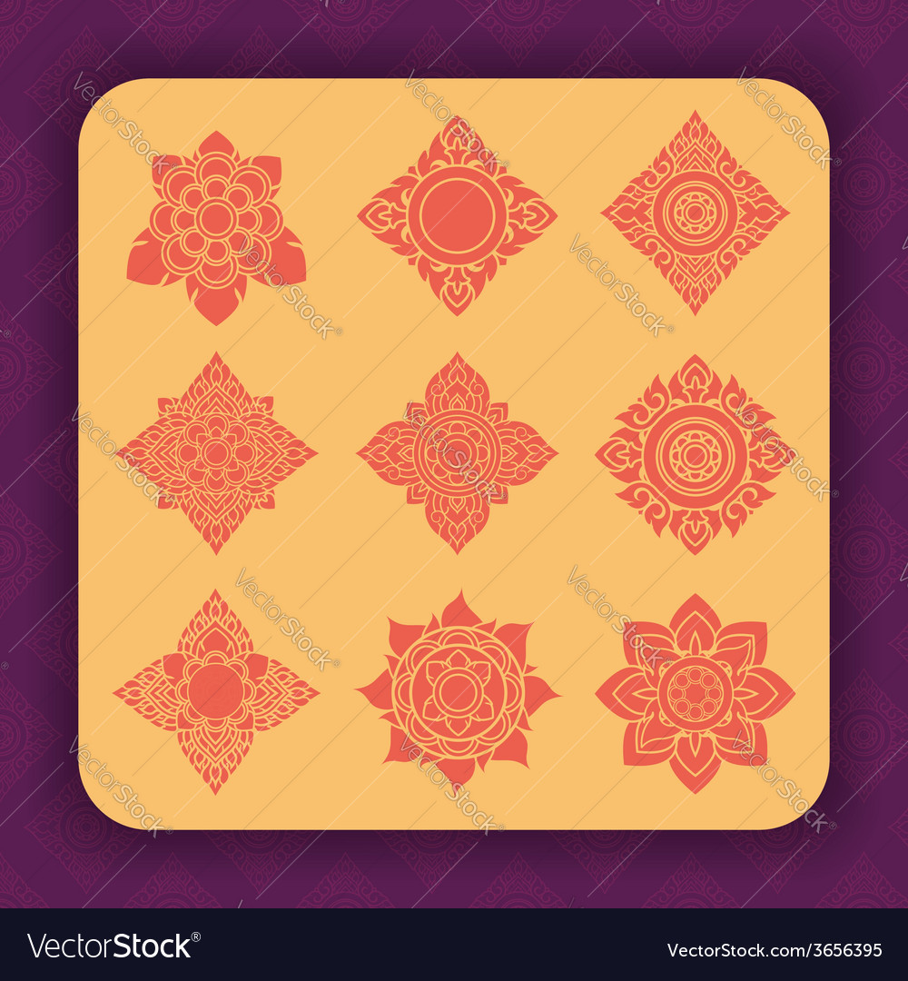 Thai art design vector | Price: 1 Credit (USD $1)