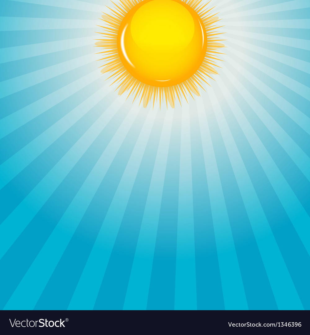 Cloud and sunny background vector | Price: 1 Credit (USD $1)