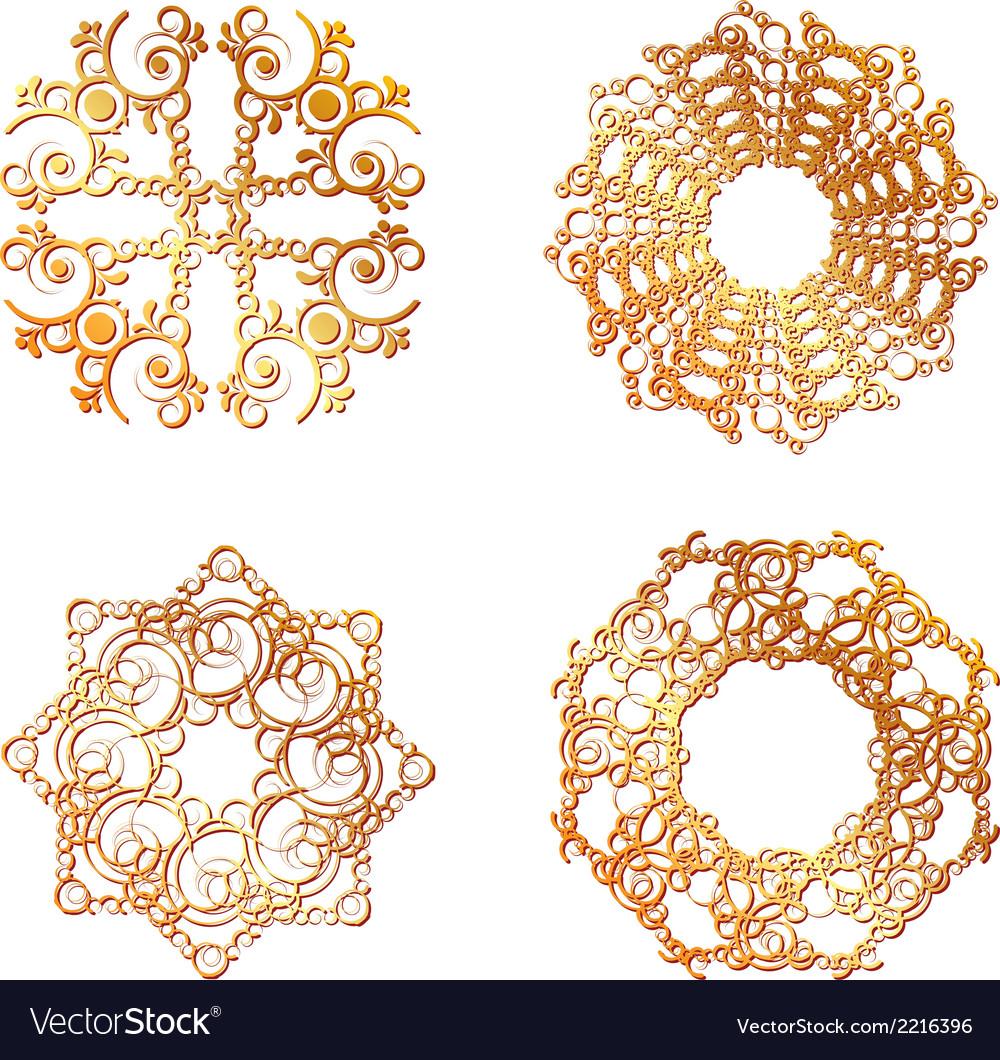 Gold lace symbols vector | Price: 1 Credit (USD $1)