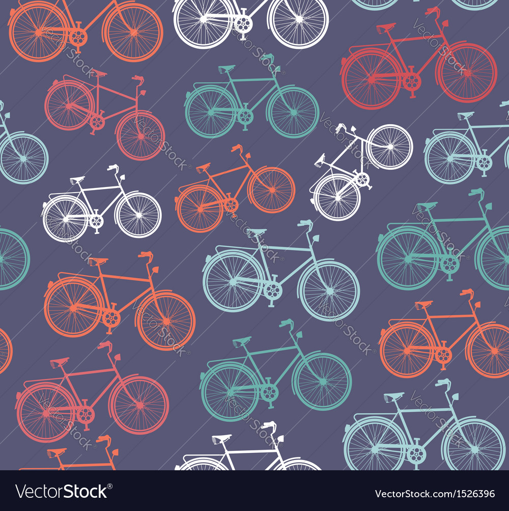 Retro hipster bicycle seamless pattern vector | Price: 1 Credit (USD $1)