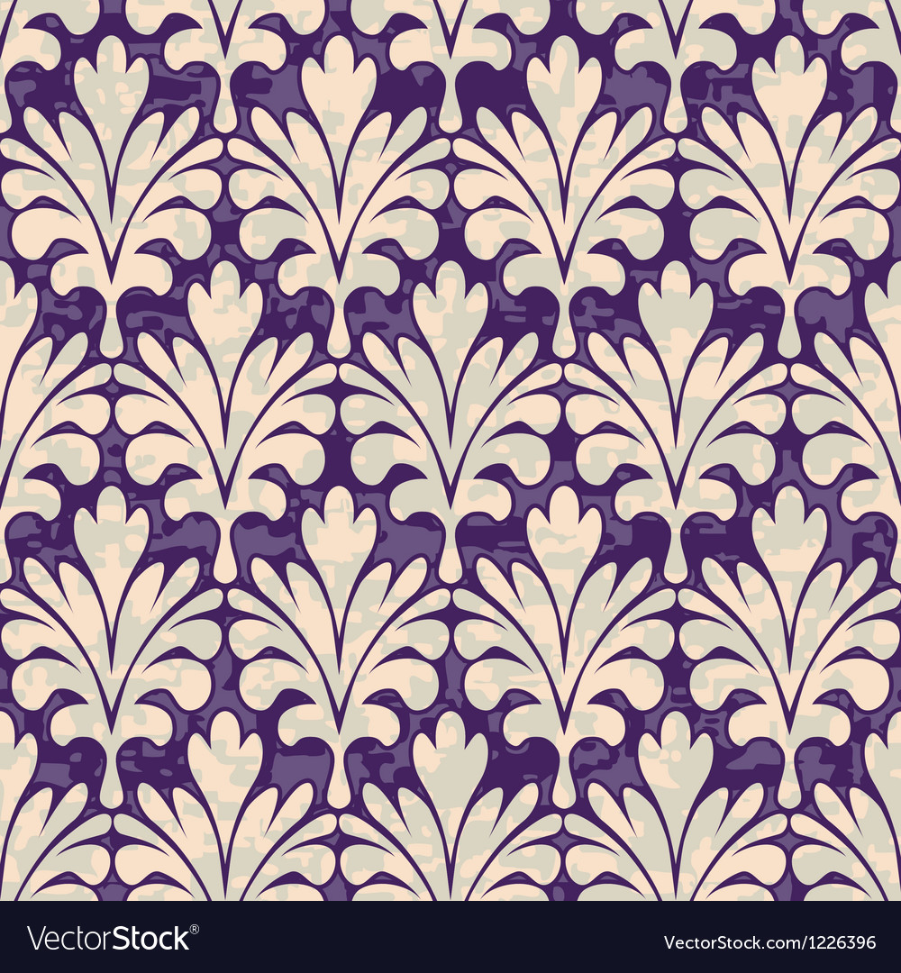 Seamless violet damask pattern vector | Price: 1 Credit (USD $1)