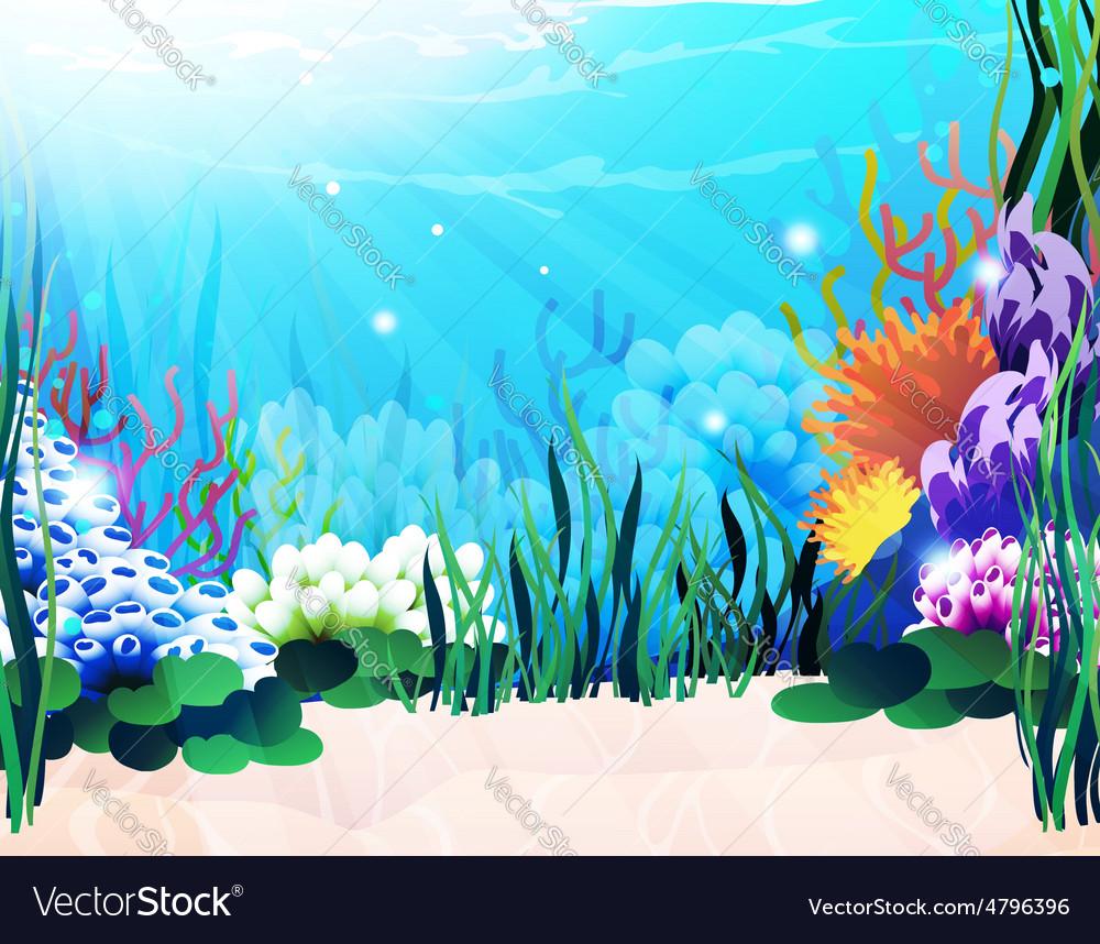Underwater plants vector | Price: 3 Credit (USD $3)