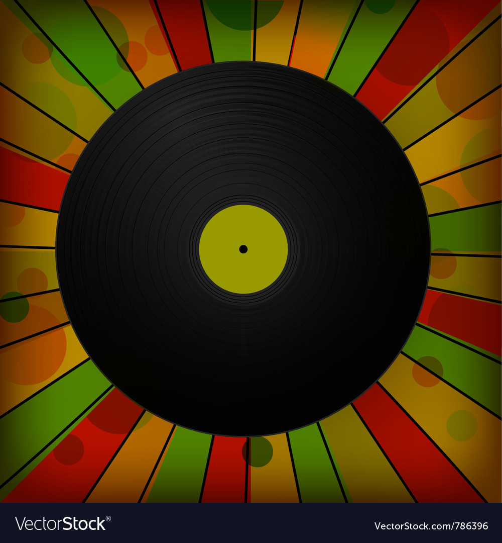Vintage vinyl record vector | Price: 1 Credit (USD $1)