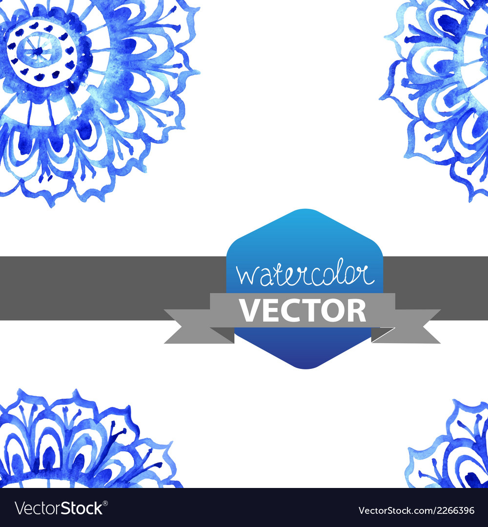Watercolor flower seamless pattern vector | Price: 1 Credit (USD $1)