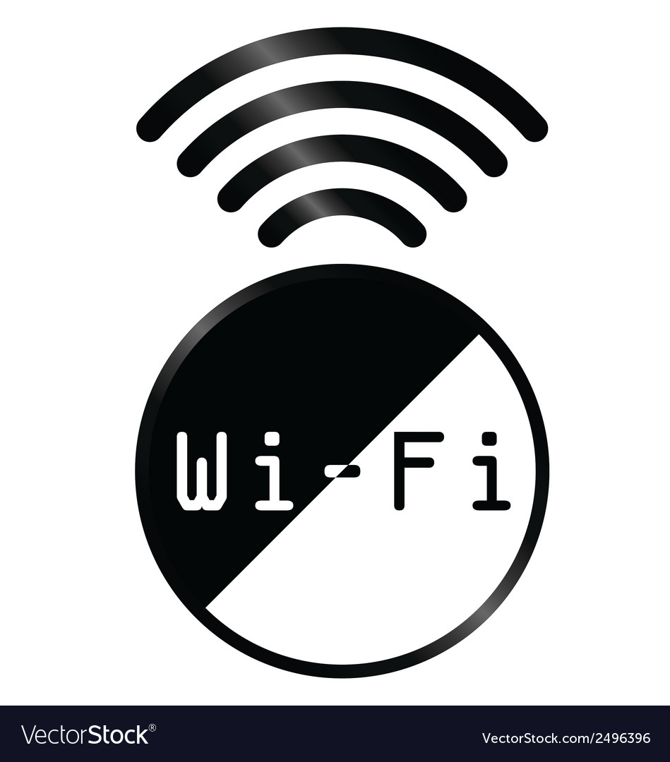Wifi symbol vector | Price: 1 Credit (USD $1)