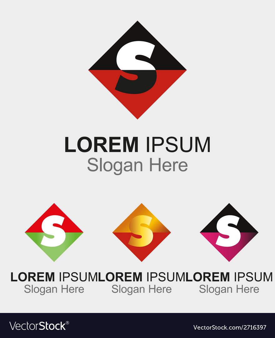 Abstract logo icon for letter s vector | Price: 1 Credit (USD $1)