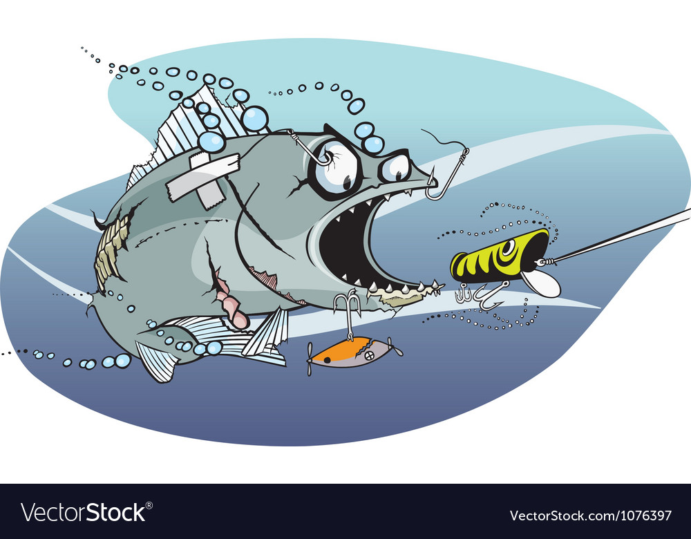 Bad azz fish 1 vector | Price: 3 Credit (USD $3)