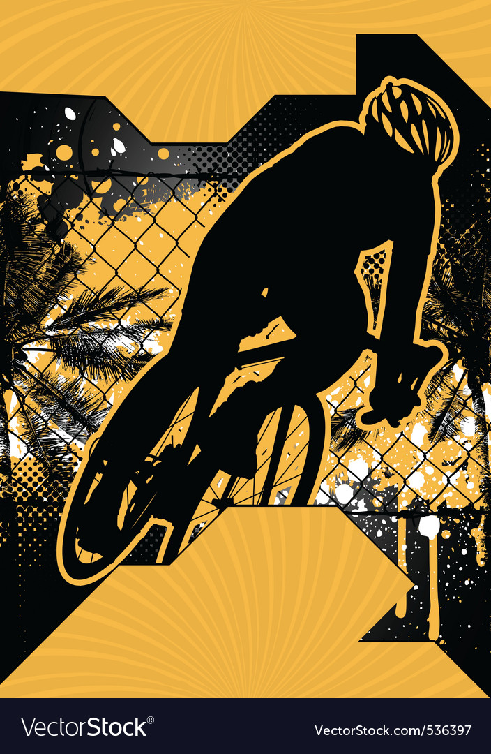 Cycling grunge poster vector | Price: 1 Credit (USD $1)