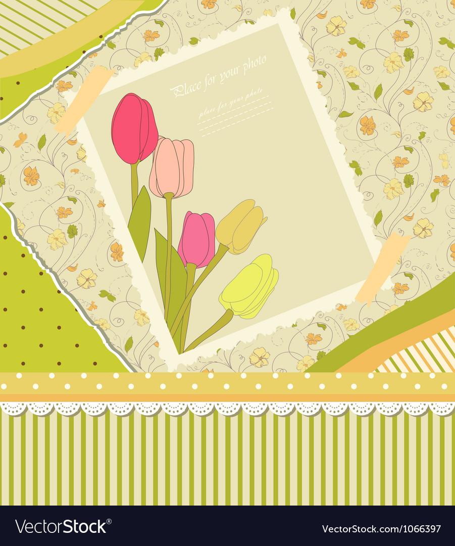Floral backdrop vector | Price: 1 Credit (USD $1)