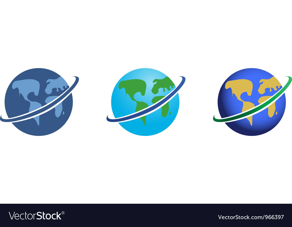 Global network icons set vector | Price: 1 Credit (USD $1)