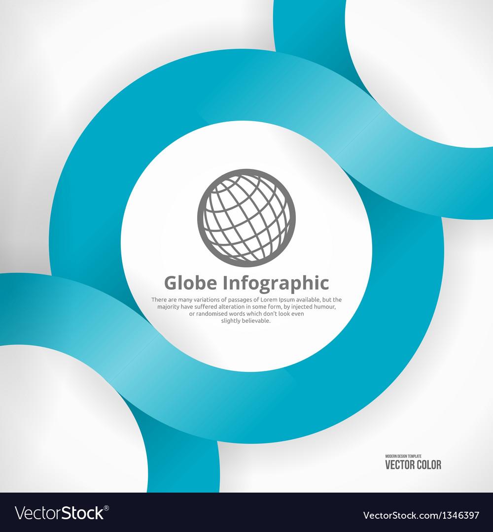 Globe infographic design vector | Price: 1 Credit (USD $1)