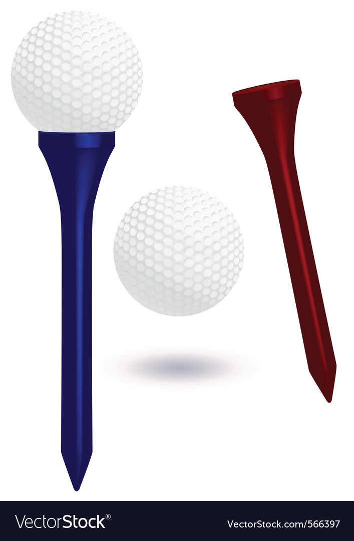 Golf ball and tee vector | Price: 1 Credit (USD $1)