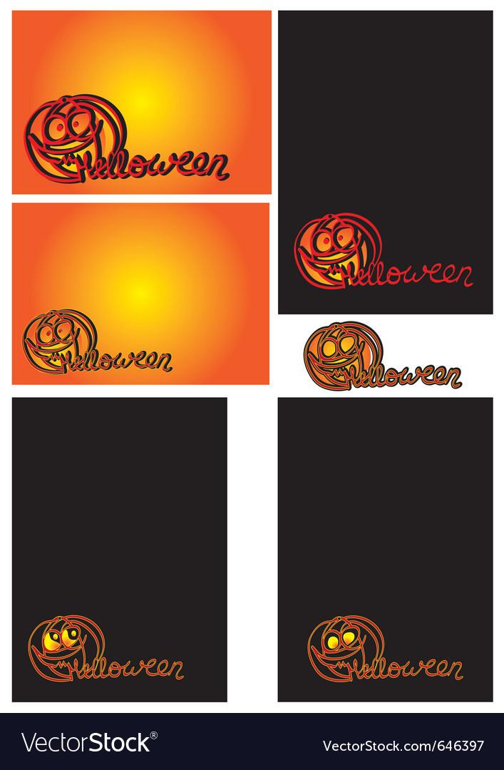 Halloween cards vector   Price: 1 Credit (USD $1)
