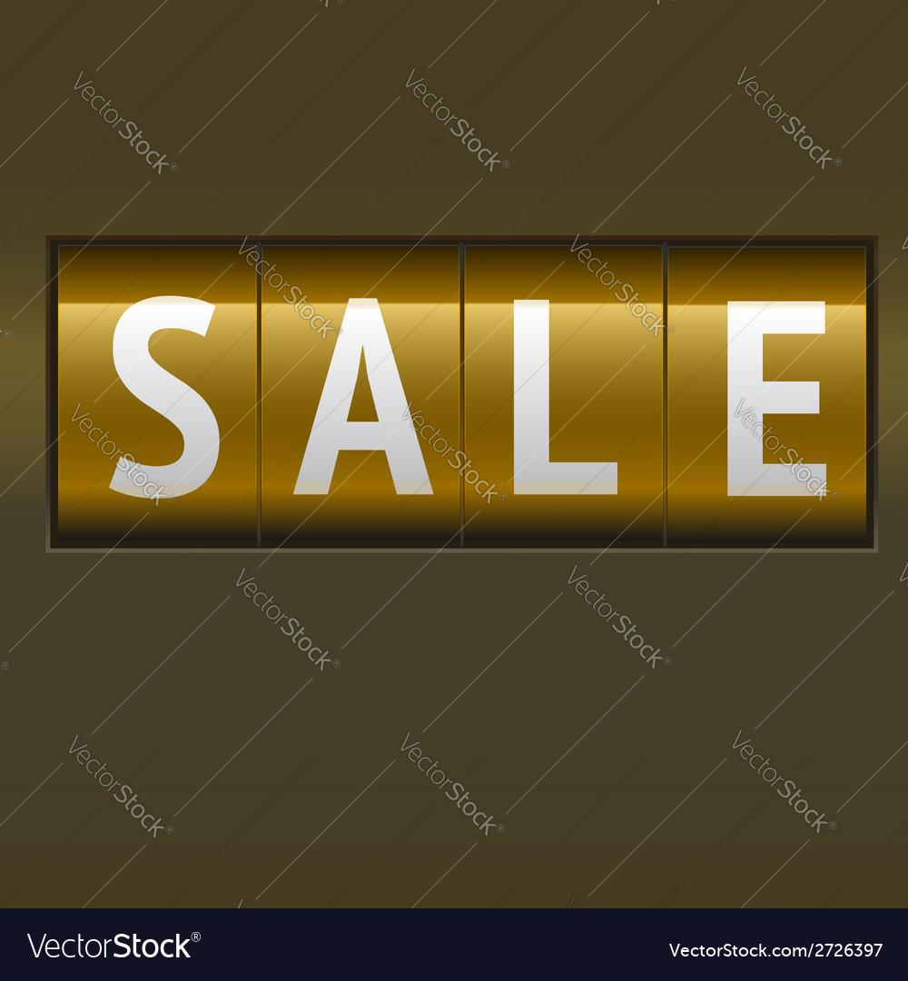 Sale mechanical scoreboard vector   Price: 1 Credit (USD $1)