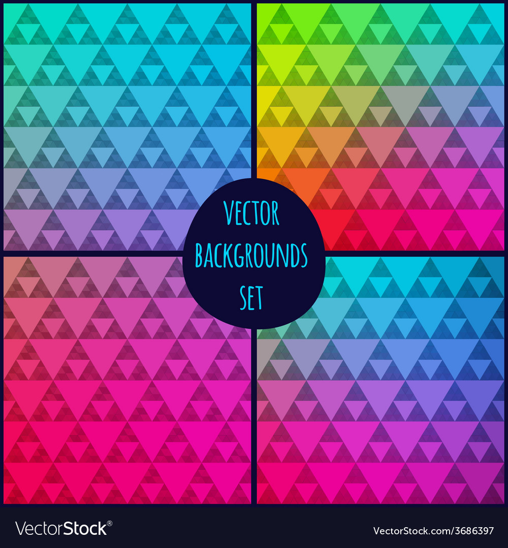 Set of four geometric patterns texture with vector | Price: 1 Credit (USD $1)