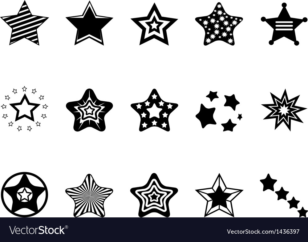 Stars icon collection vector | Price: 1 Credit (USD $1)