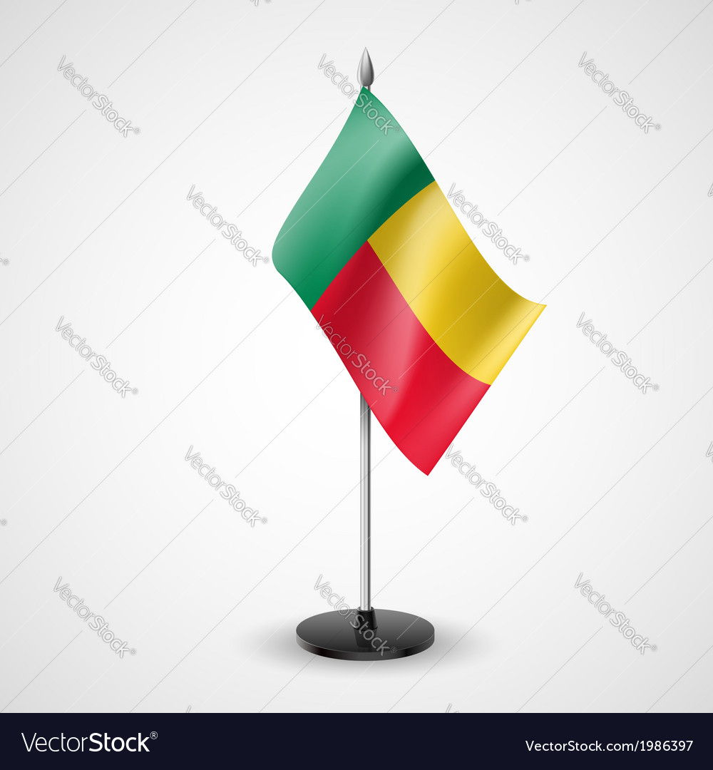 Table flag of benin vector | Price: 1 Credit (USD $1)