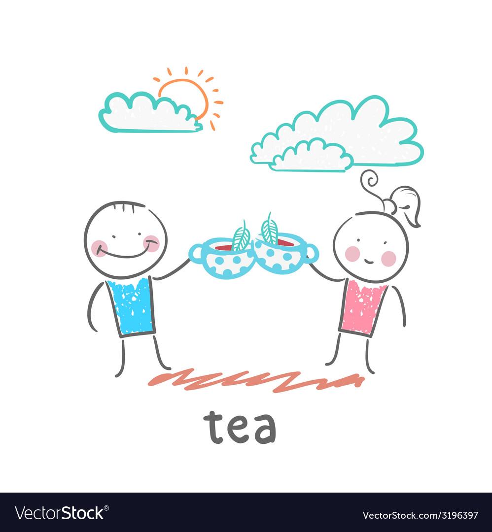 Tea vector | Price: 1 Credit (USD $1)