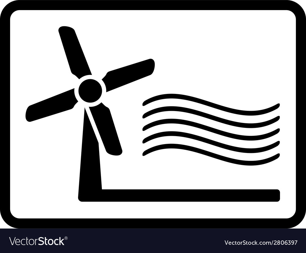 Wind mill icon vector   Price: 1 Credit (USD $1)