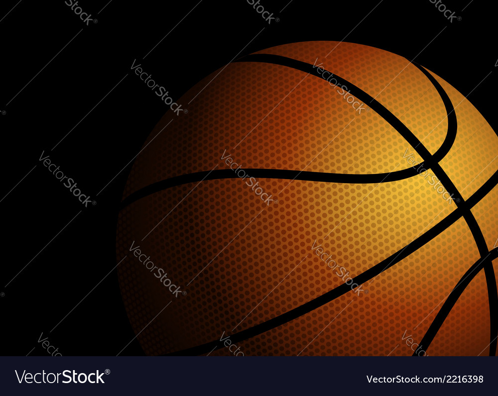 Basketball on black background vector | Price: 1 Credit (USD $1)