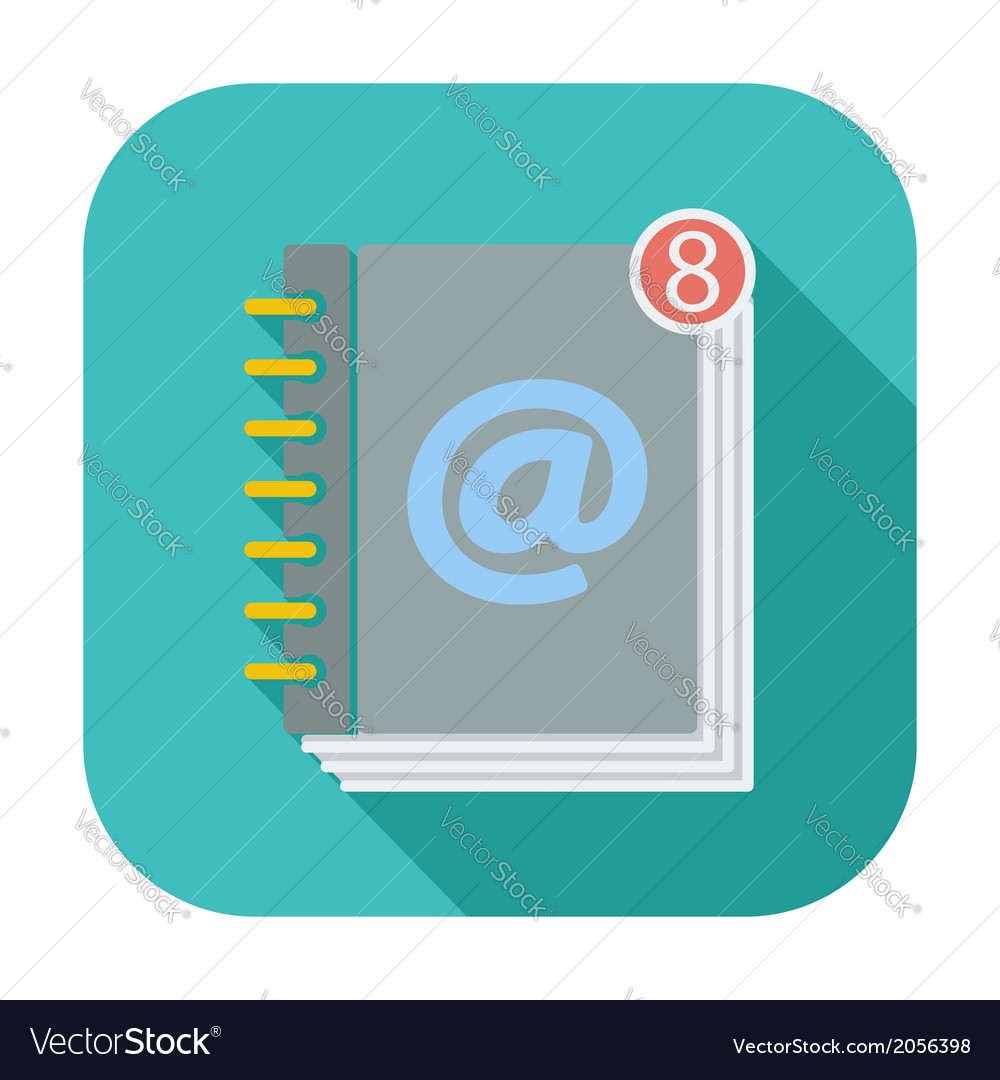 Contact book single icon vector   Price: 1 Credit (USD $1)