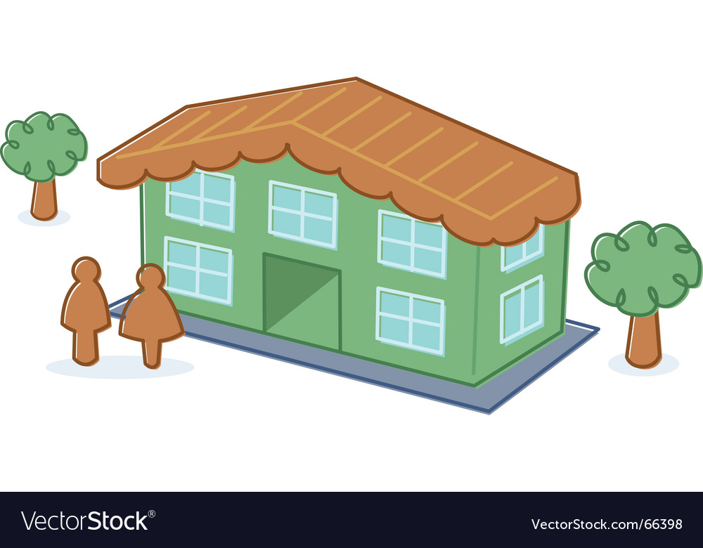 Cute toy dolls house illustration vector | Price: 1 Credit (USD $1)