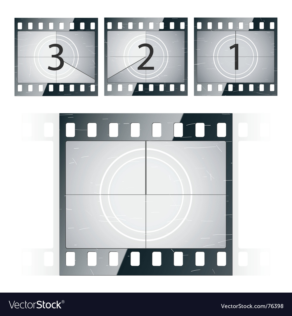 Film strip countdown vector | Price: 1 Credit (USD $1)